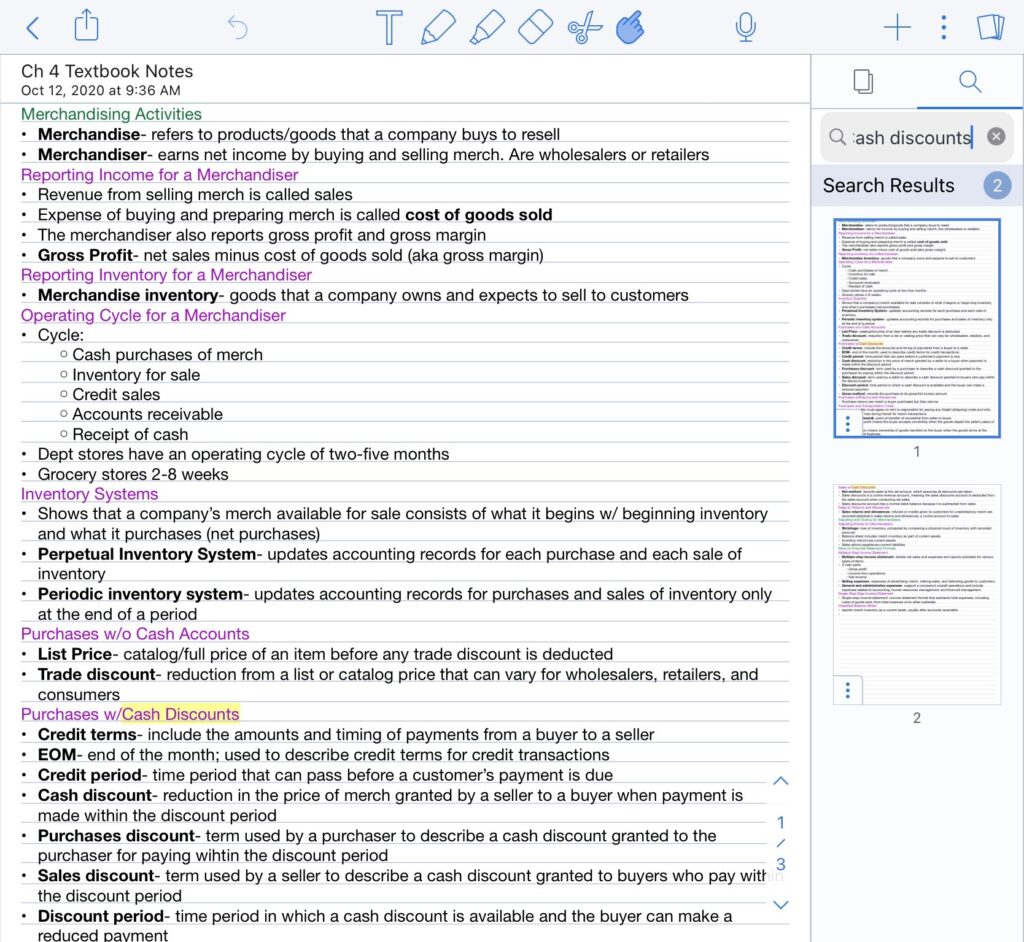Notability Search Feature