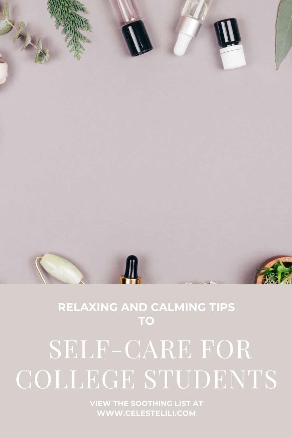 Self-care for College Students Pin