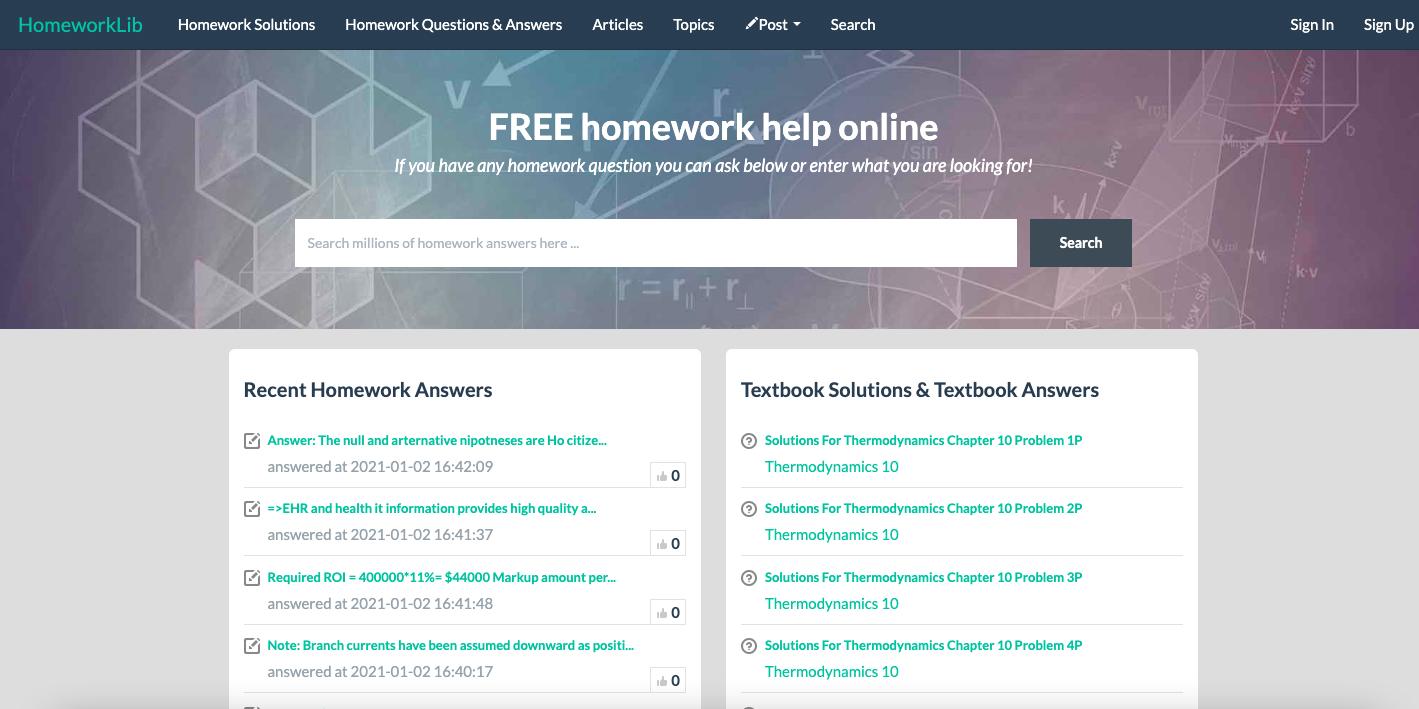HomeworkLib