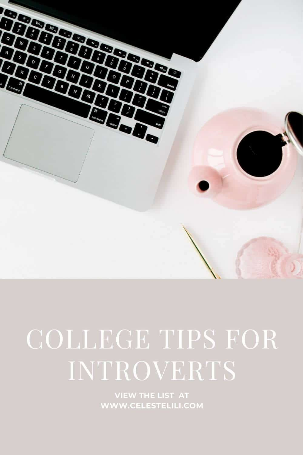 College Tips for Introverts Pin