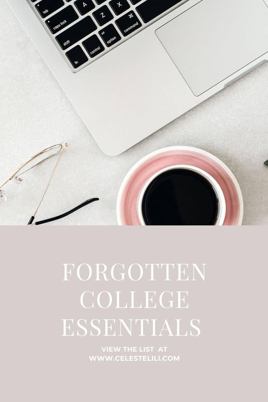 Forgotten College Essentials Pin